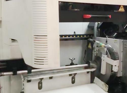 广东纬扬焊管在线激光切割机视频