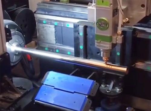 佛山纬扬视觉激光切管机视频(孔管机)