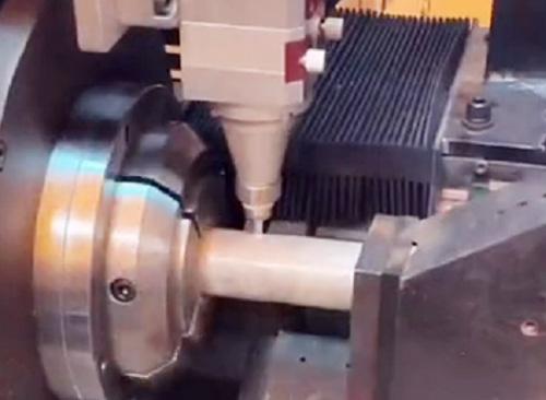 锯片切管机与激光切管机切割效果对比视频