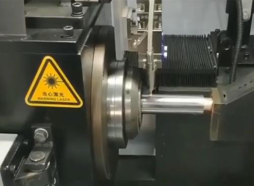 纬扬圆管激光下料机自动除渣切断视频