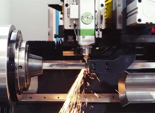 纬扬小型三维激光切管机高速切割视频
